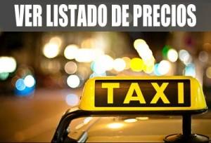 Taxi Valencia: Lista de precios
